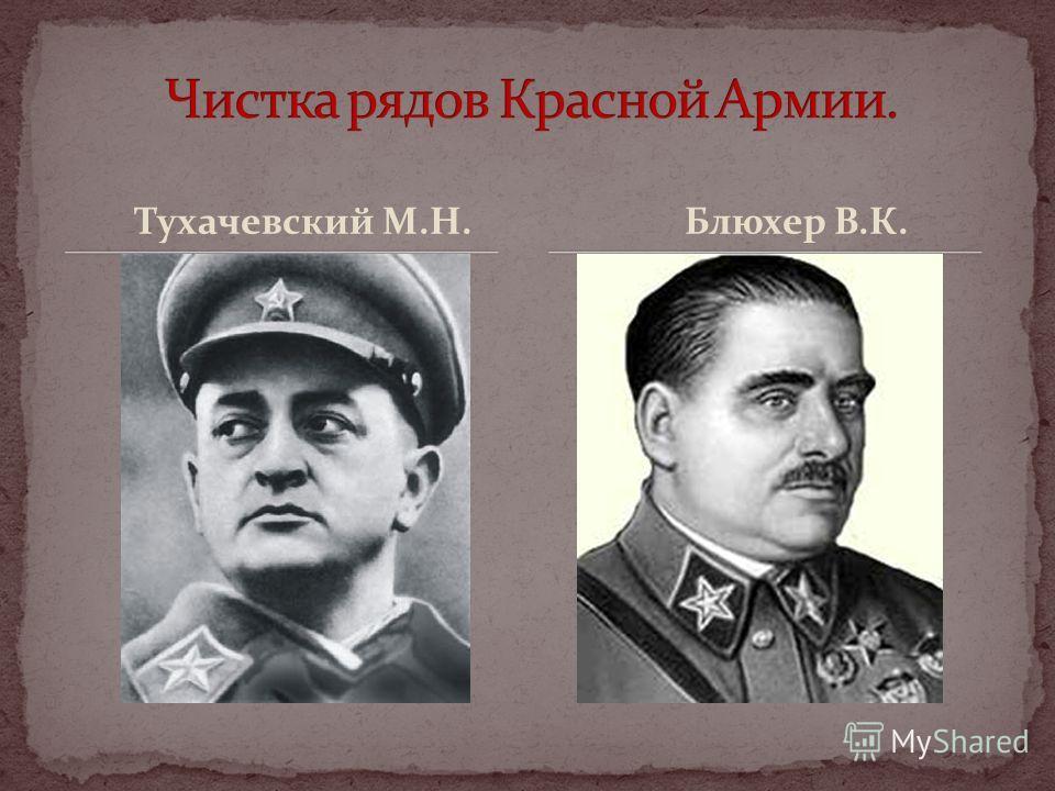 Тухачевский М.Н. Блюхер В.К.