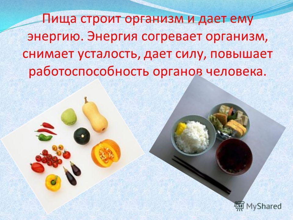 Питание – процесс усвоения организмом питательных веществ, необходимых для поддержания жизни, здоровья и работоспособности.