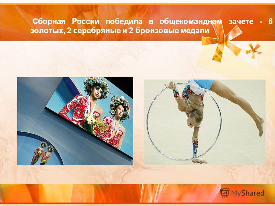 Сборная России победила в общекомандном зачете - 6 золотых, 2 серебряные и 2 бронзовые медали