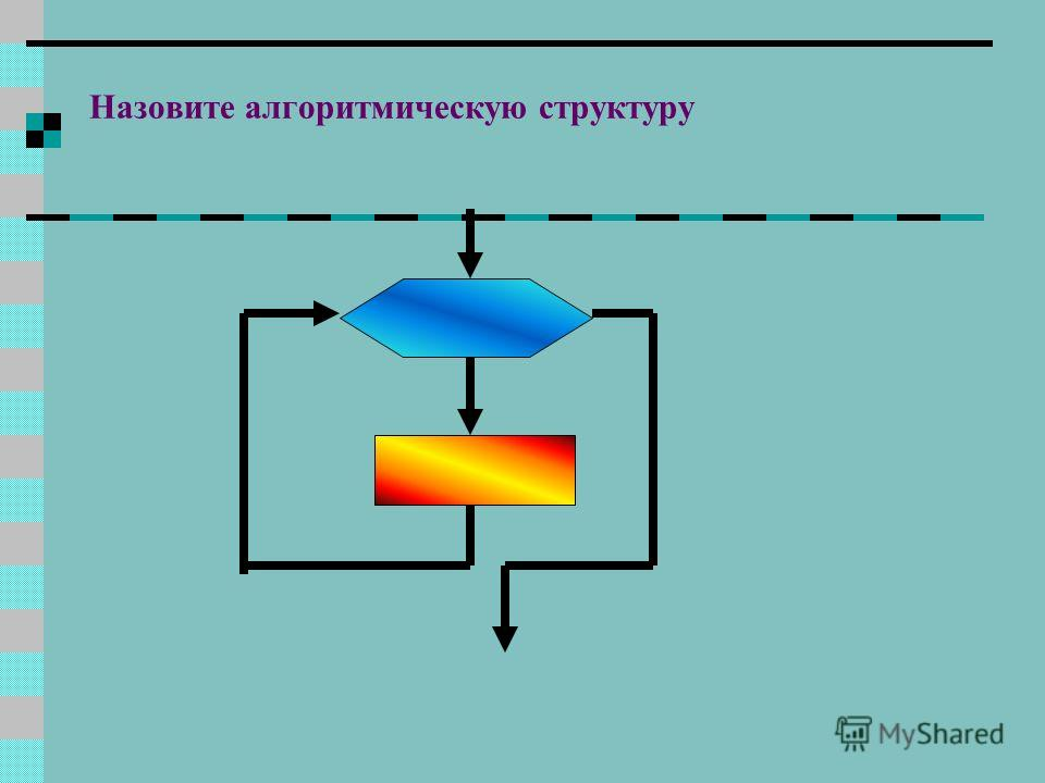 Назовите алгоритмическую структуру