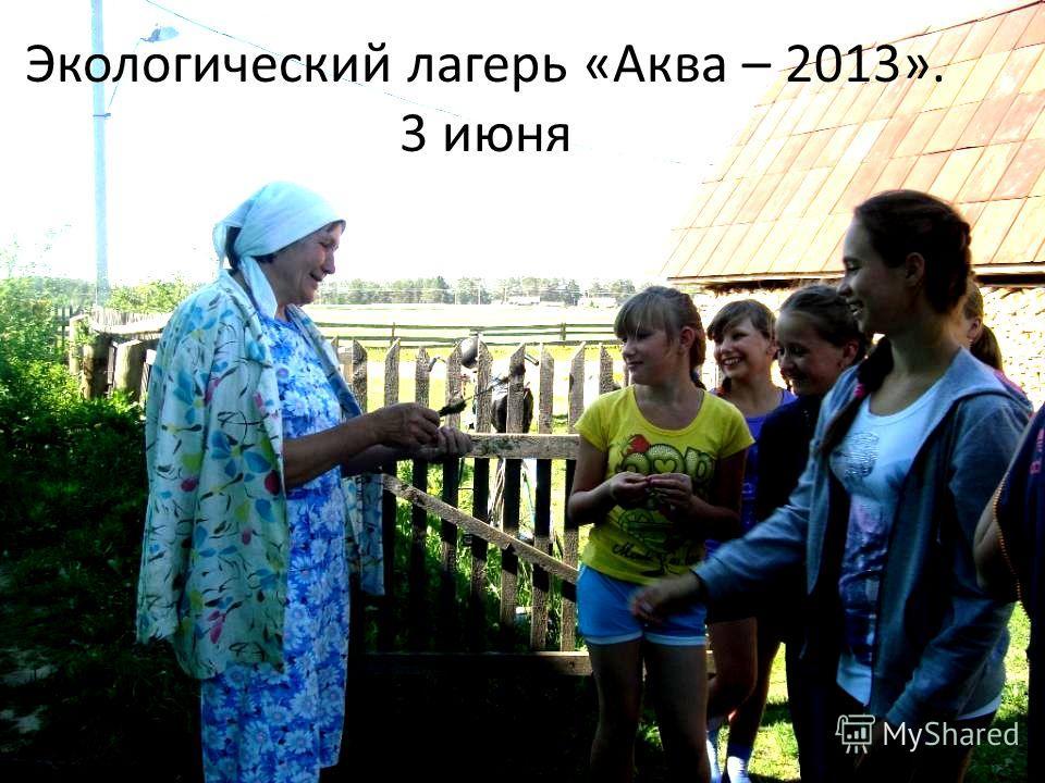 Экологический лагерь «Аква – 2013». 3 июня