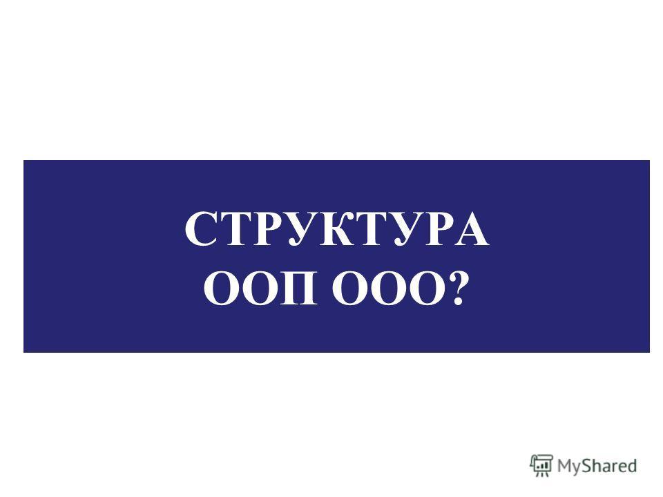 СТРУКТУРА ООП ООО?