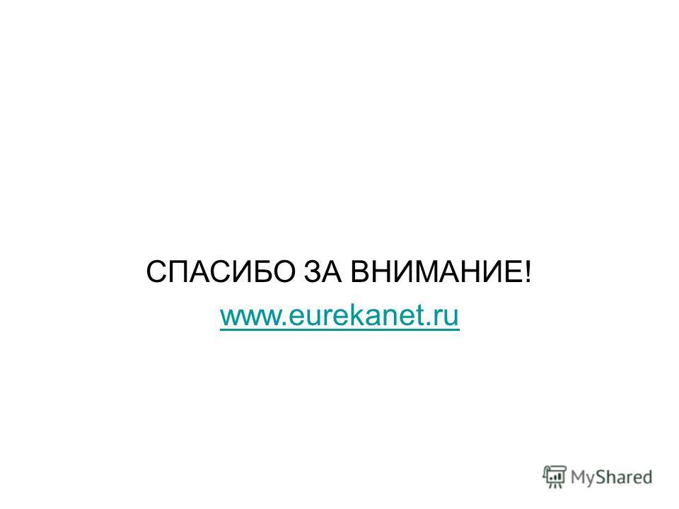 СПАСИБО ЗА ВНИМАНИЕ! www.eurekanet.ru