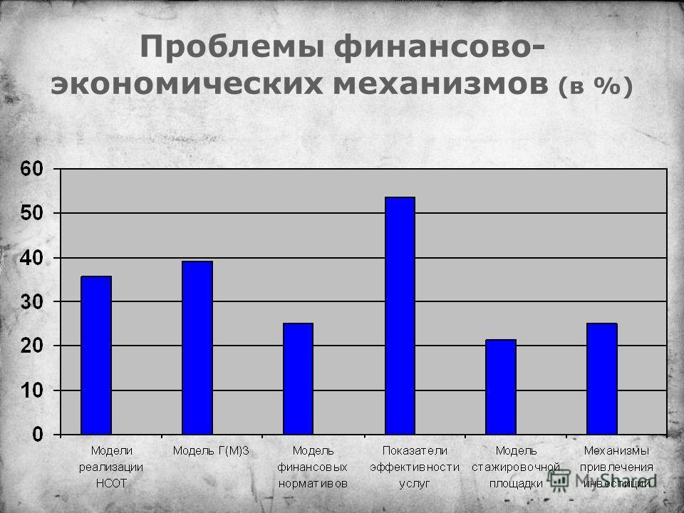 Проблемы финансово- экономических механизмов (в %)