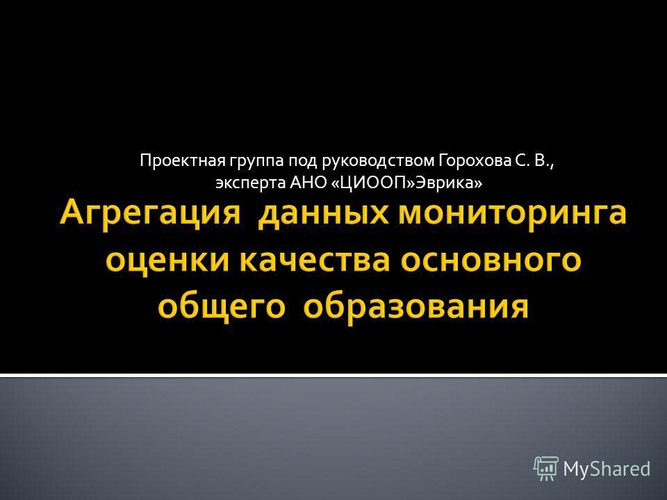 Проектная группа под руководством Горохова С. В., эксперта АНО «ЦИООП»Эврика»