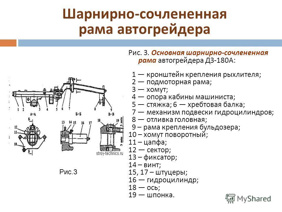 рама автогрейдера ДЗ -180