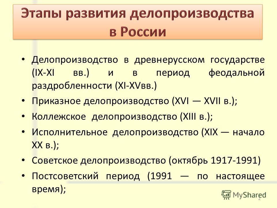 Делопроизводство в современной россии реферат 8176