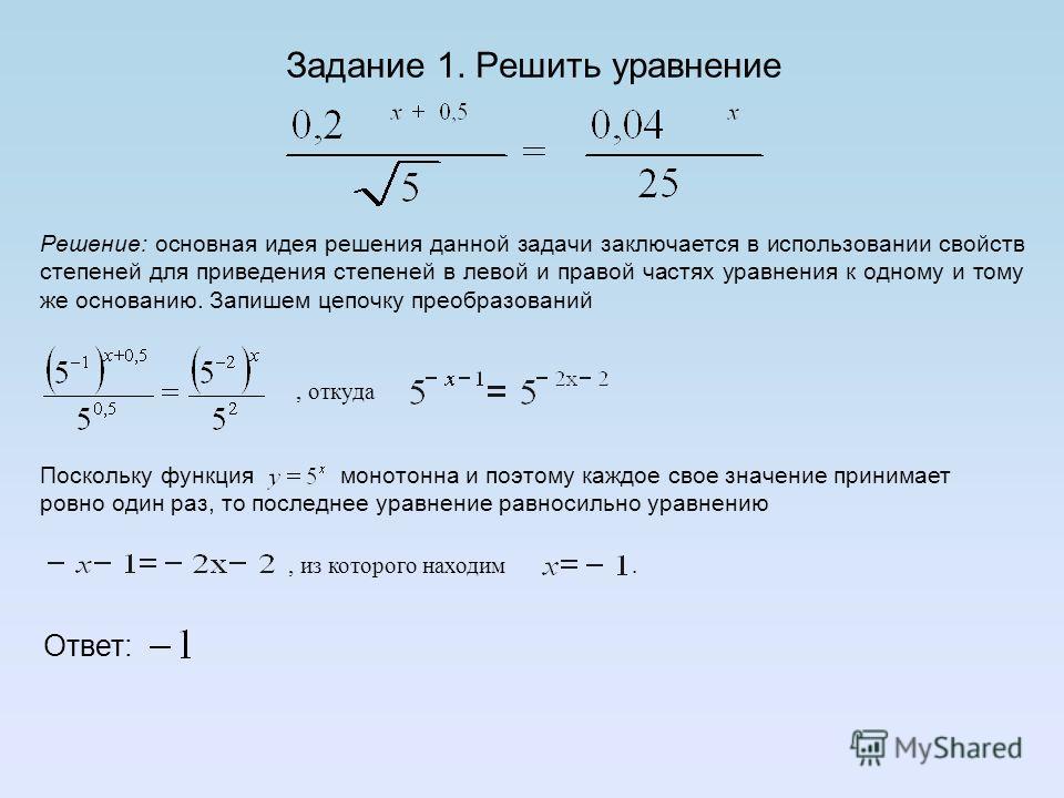 Методы решения показательных уравнений Метод введения новой переменной Функционально- графический метод Метод уравнивания показателей при одинаковых основаниях.