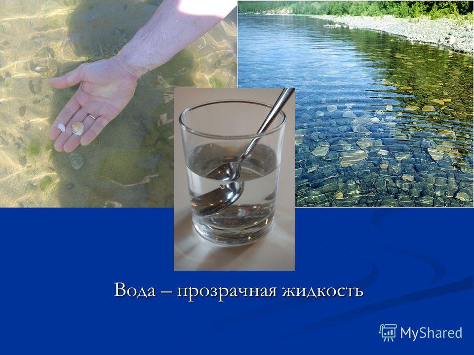 Вода – прозрачная жидкость