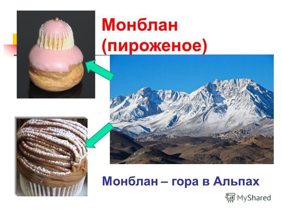 Монблан (пироженое) Монблан – гора в Альпах