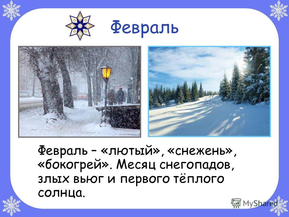Январь Январь – «студень». Самый холодный и ветреный месяц в году. Январь – году начало, зиме – середина.