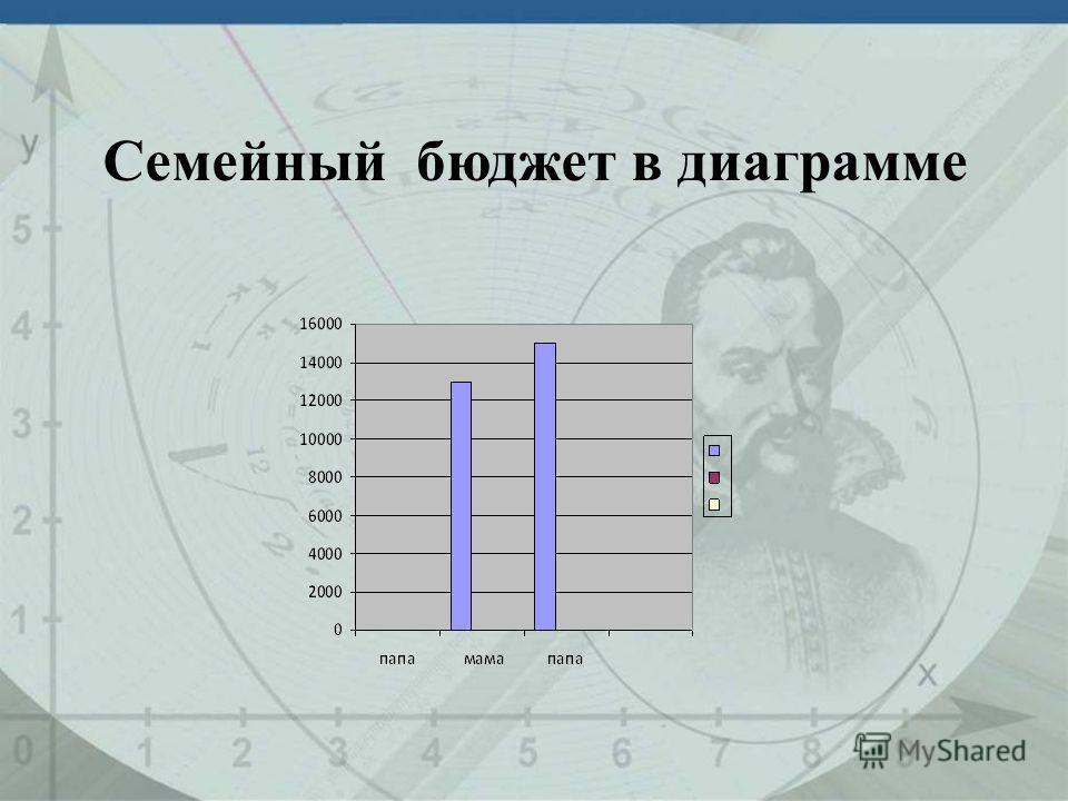 Cемейный бюджет в диаграмме