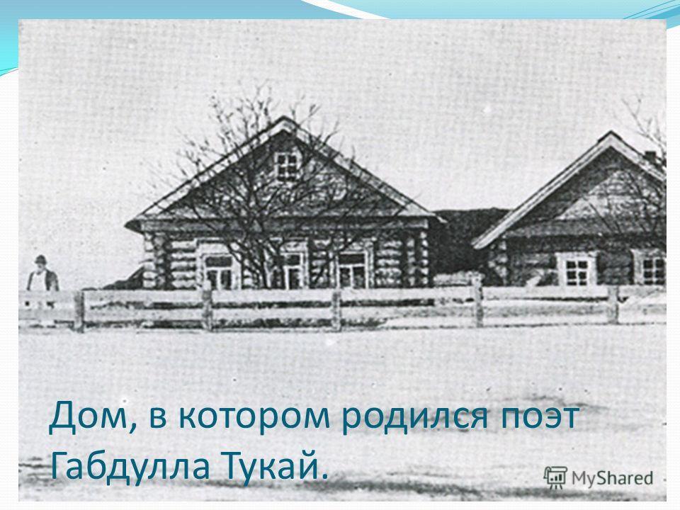 Дом, в котором родился поэт Габдулла Тукай.