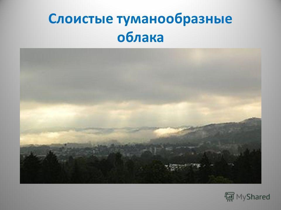 Слоистые туманообразные облака