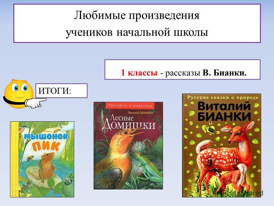 Любимые произведения учеников начальной школы 1 классы - рассказы В. Бианки. ИТОГИ: