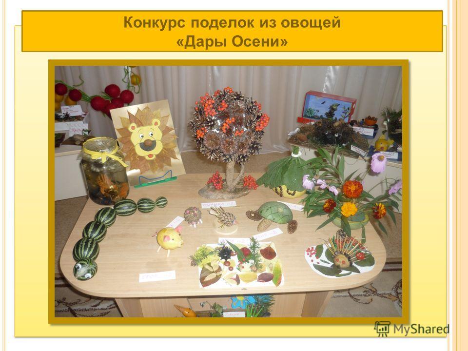 Конкурс поделок из овощей «Дары Осени»