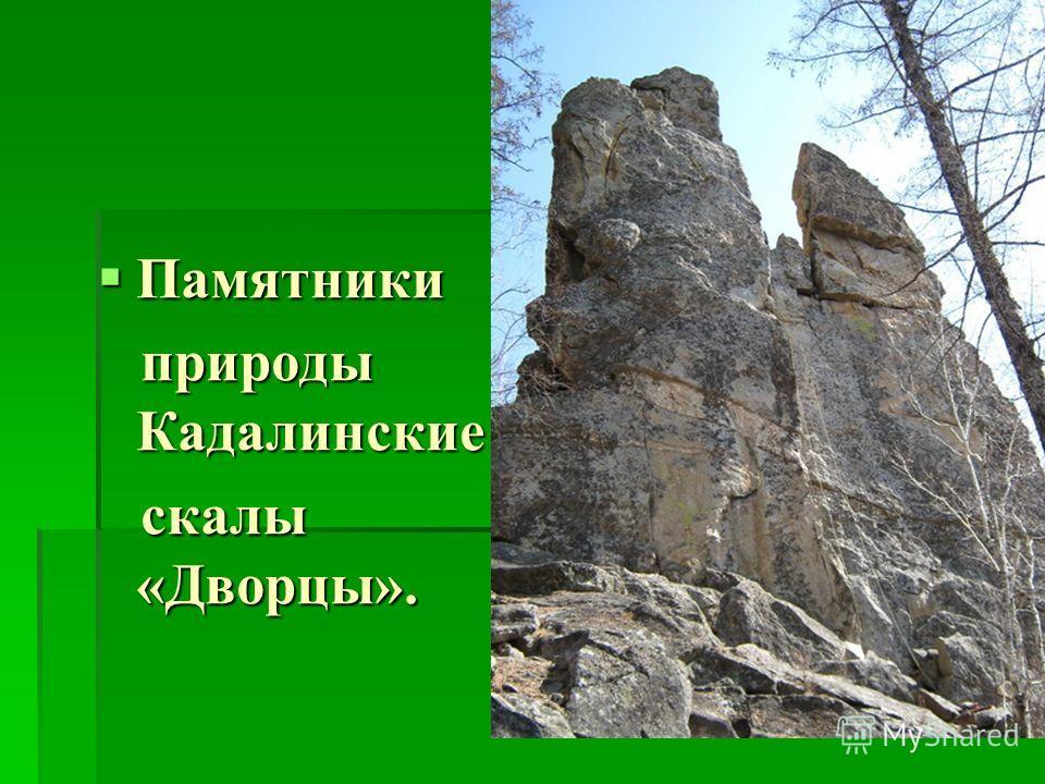 Памятники Памятники природы Кадалинские природы Кадалинские скалы «Дворцы». скалы «Дворцы».