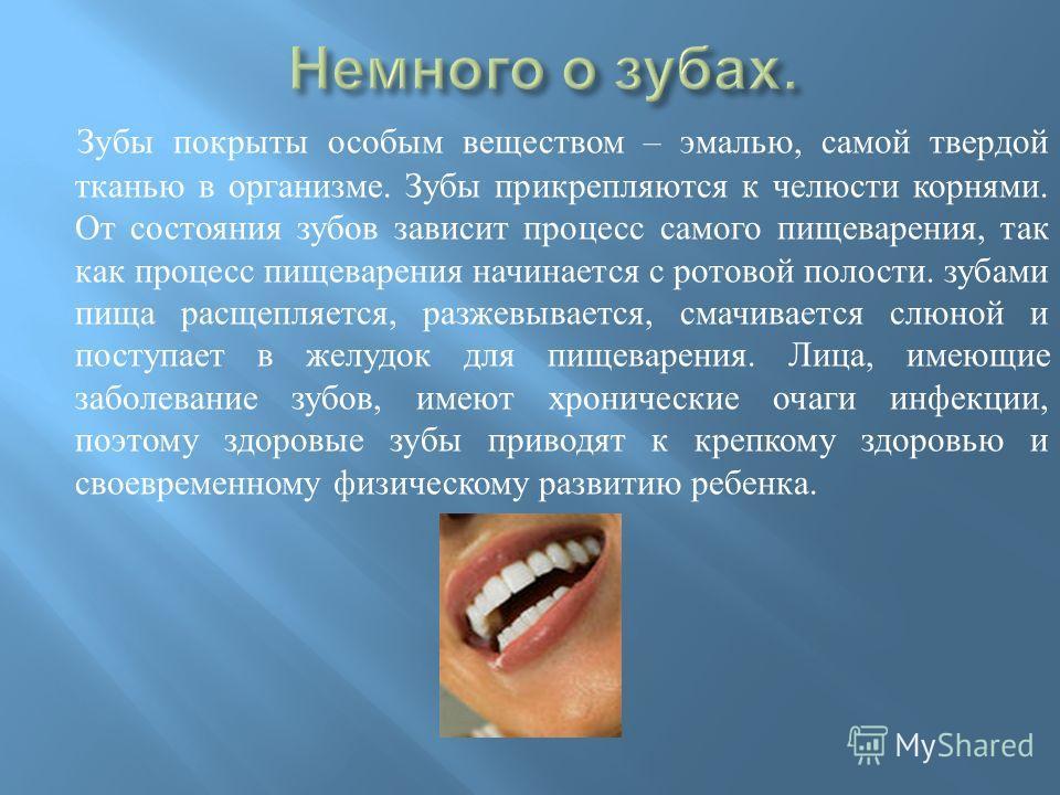 Презентация на тему Берегите зубы Доклад Скачать бесплатно и  9 Зубы