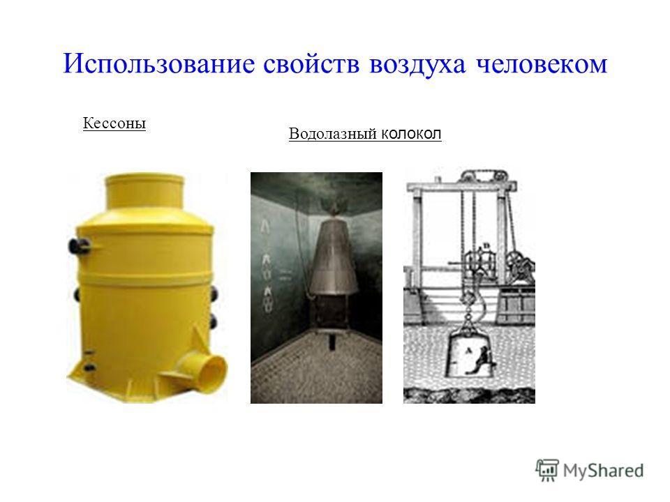 Использование свойств воздуха человеком Кессоны Водолазный колокол