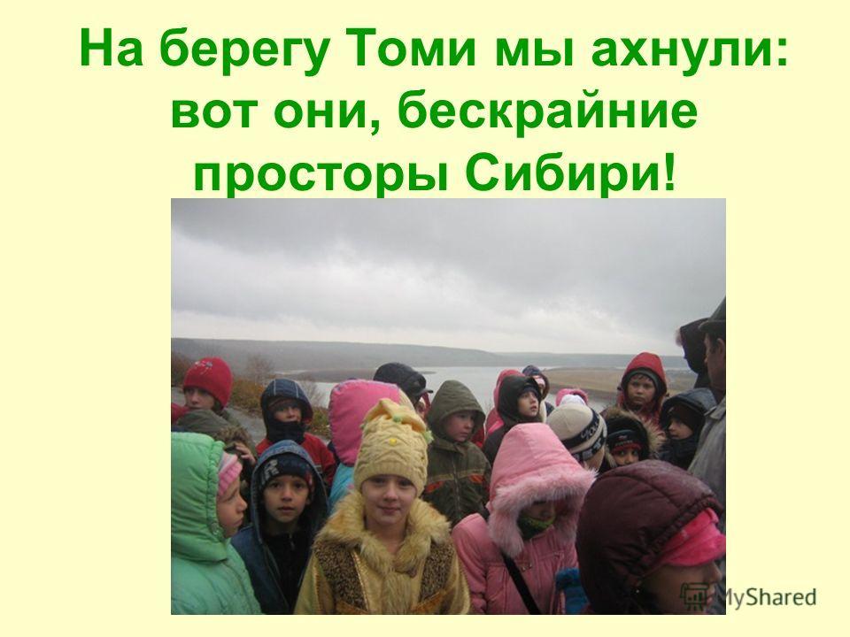 На берегу Томи мы ахнули: вот они, бескрайние просторы Сибири!