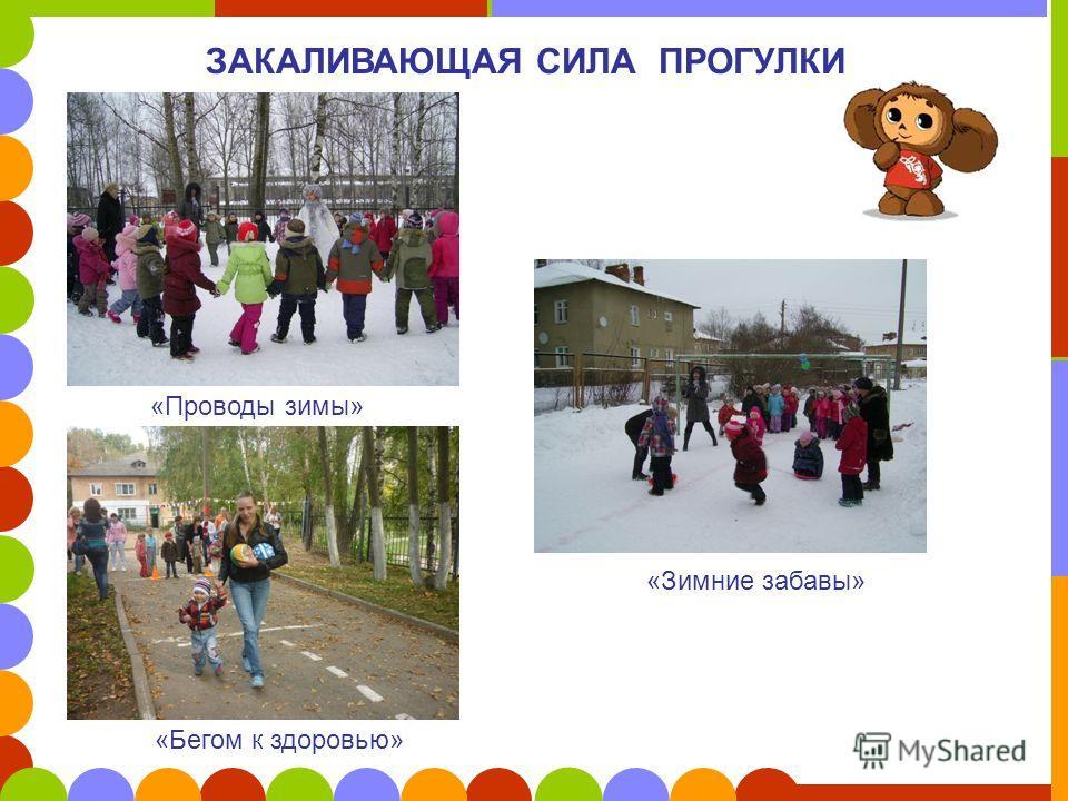 ЗАКАЛИВАЮЩАЯ СИЛА ПРОГУЛКИ «Проводы зимы» «Зимние забавы» «Бегом к здоровью»