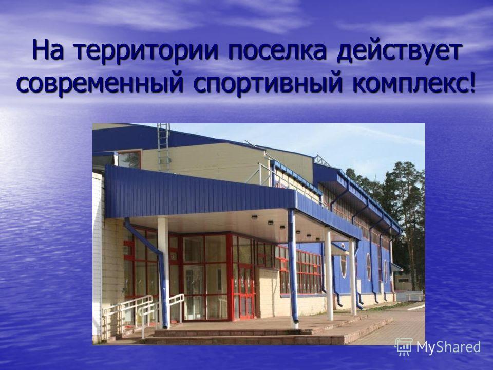 На территории поселка действует современный спортивный комплекс!