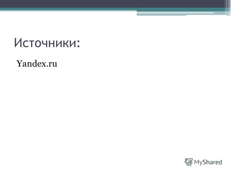Источники: Yandex.ru