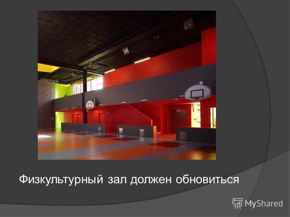 Физкультурный зал должен обновиться