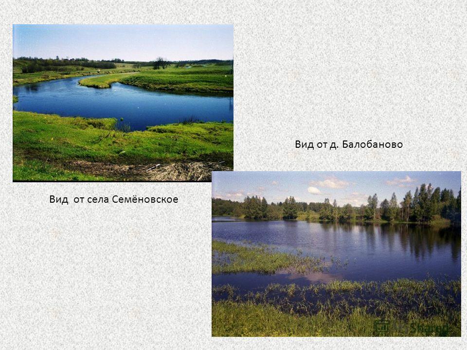 Вид от села Семёновское Вид от д. Балобаново