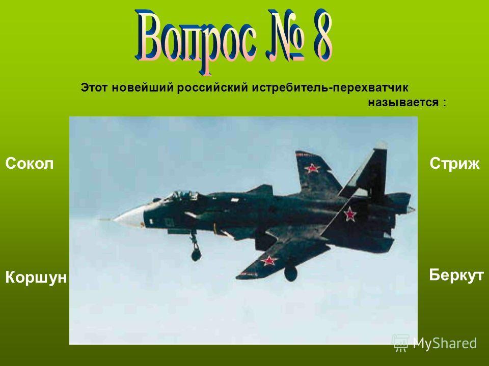 Этот новейший российский истребитель-перехватчик называется : Сокол Коршун Стриж Беркут