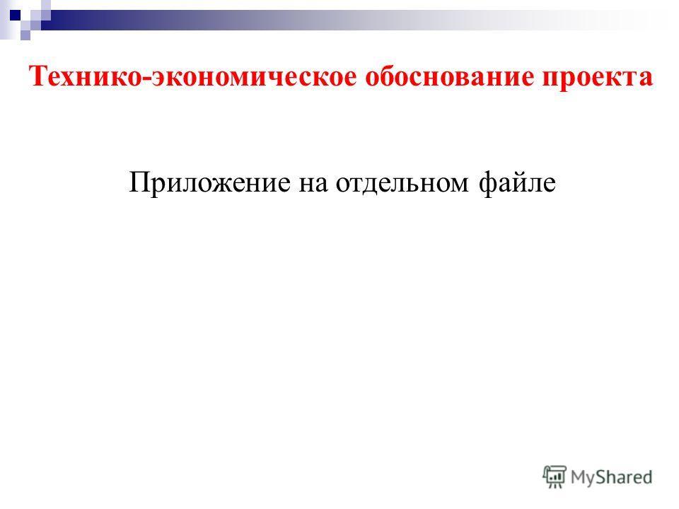 Технико-экономическое обоснование проекта Приложение на отдельном файле