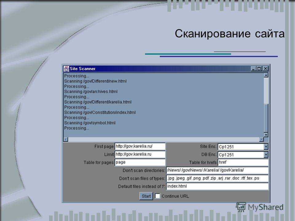 Сканирование сайта