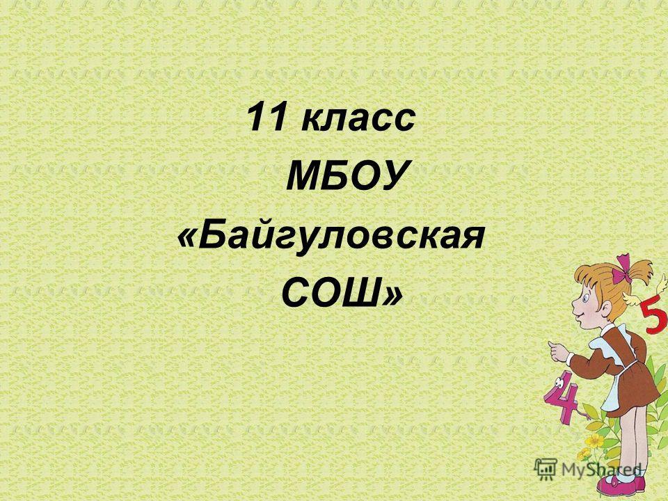 11 класс МБОУ «Байгуловская СОШ»