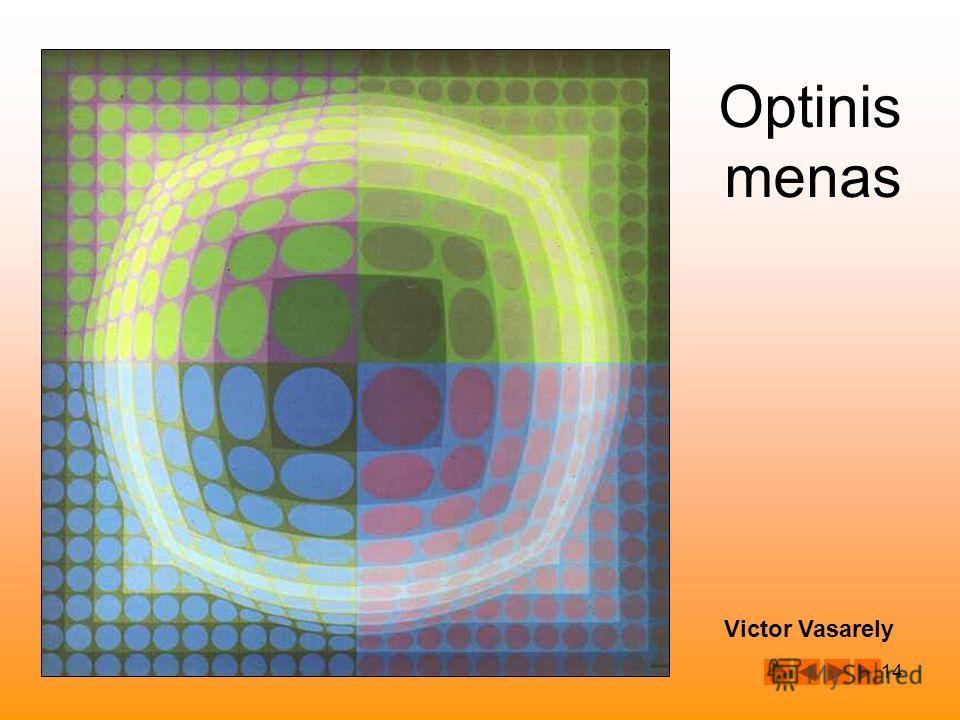 14 Victor Vasarely Optinis menas