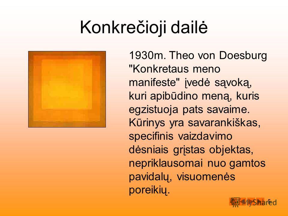 5 Konkrečioji dailė 1930m. Theo von Doesburg