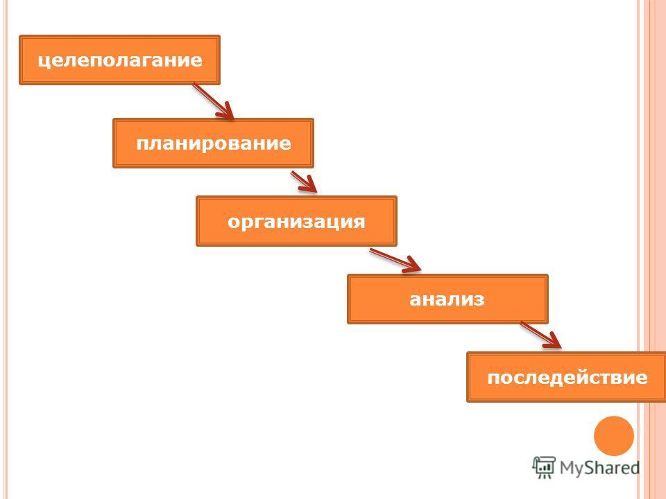 целеполагание планирование организация анализ последействие