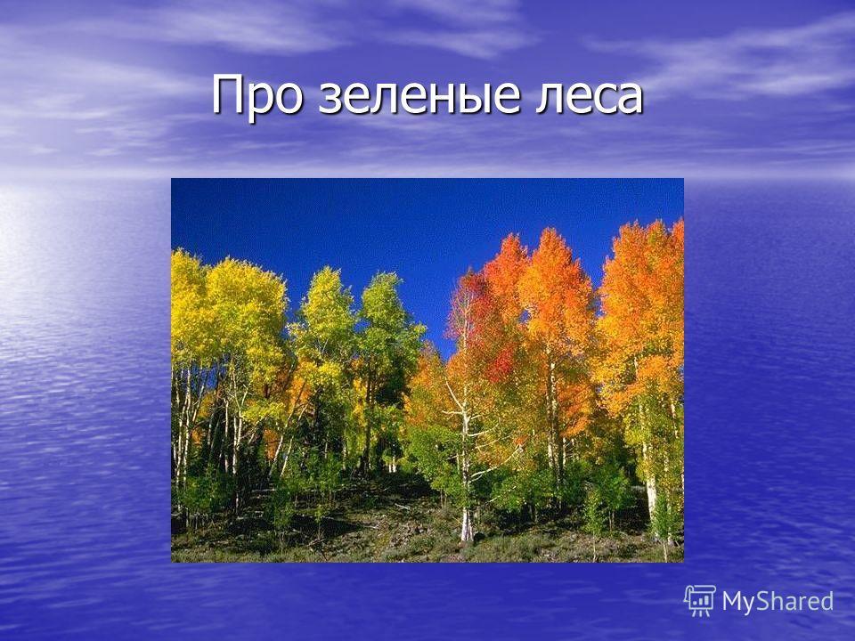 Про зеленые леса