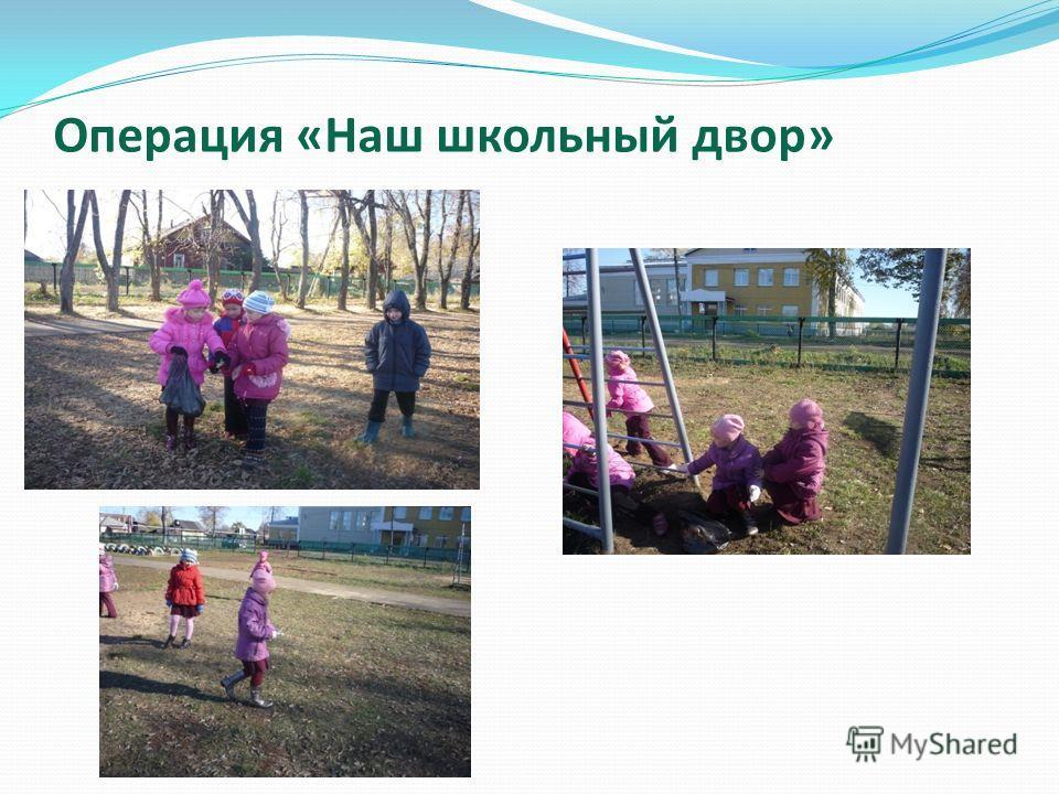 Операция «Наш школьный двор»