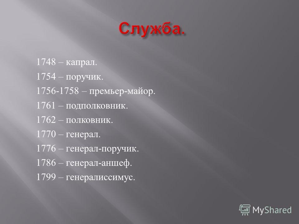 Русский полководец, достигший высшего офицерского чина – генералиссимуса. ( Достигнутые звания – ниже.)