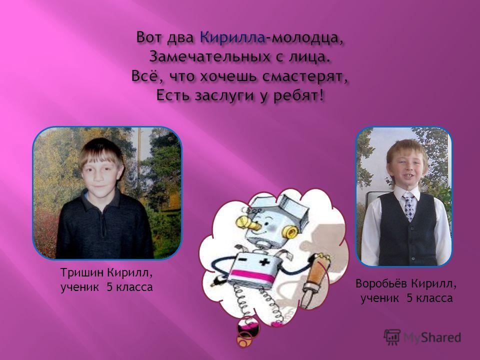 Тришин Кирилл, ученик 5 класса Воробьёв Кирилл, ученик 5 класса
