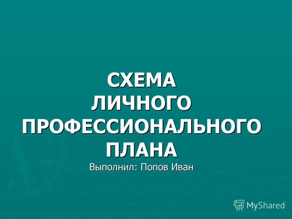 СХЕМА ЛИЧНОГО ПРОФЕССИОНАЛЬНОГО ПЛАНА Выполнил: Попов Иван