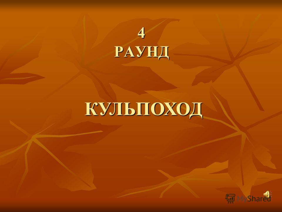 4 РАУНД КУЛЬПОХОД