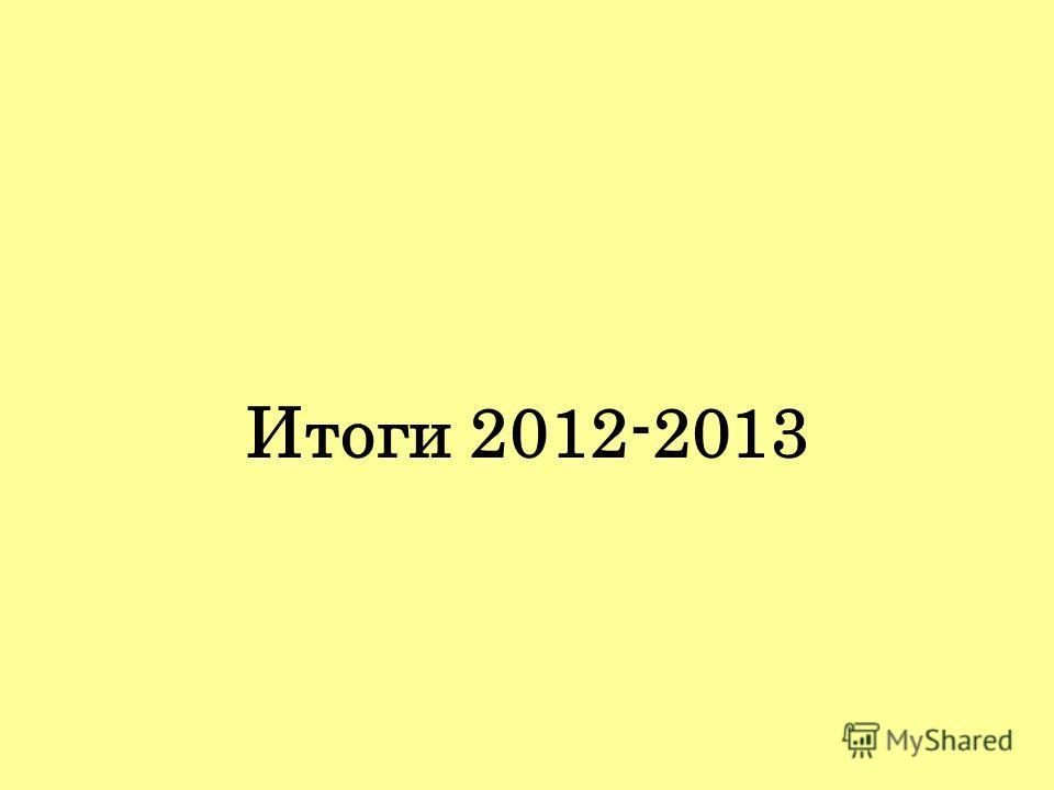 Итоги 2012-2013