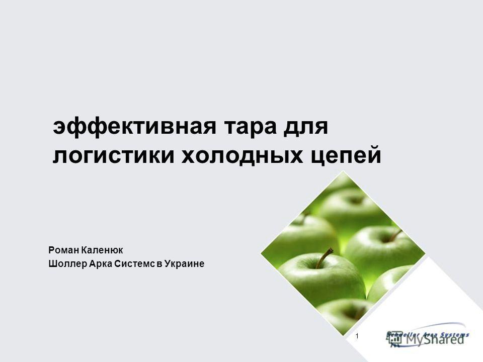 эффективная тара для логистики холодных цепей Роман Каленюк Шоллер Арка Системс в Украине 1