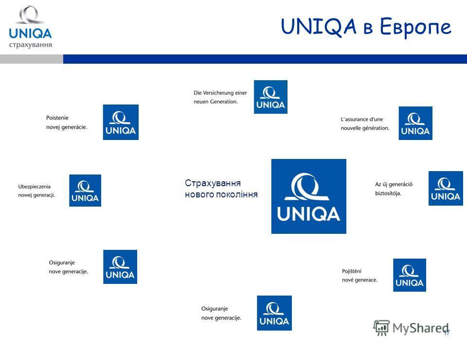 17 UNIQA в Европе Страхування нового поколiння