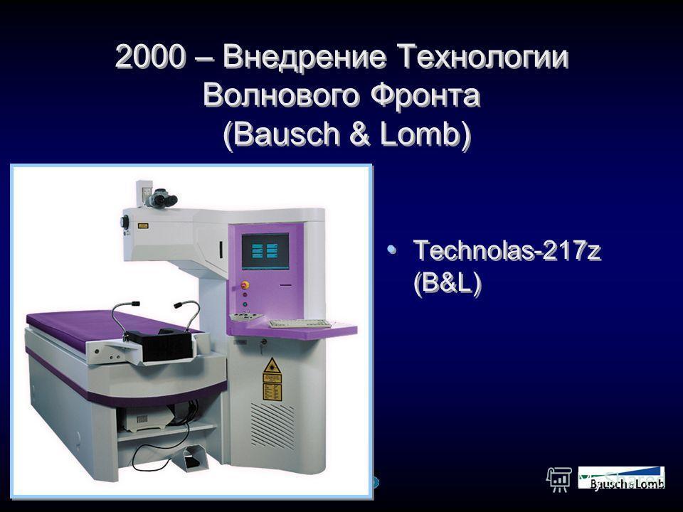 2000 – Внедрение Технологии Волнового Фронта (Bausch & Lomb) Technolas-217z (B&L)