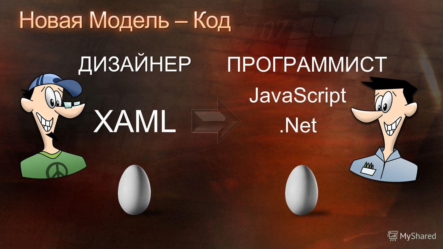 ДИЗАЙНЕР ПРОГРАММИСТ XAML JavaScript.Net