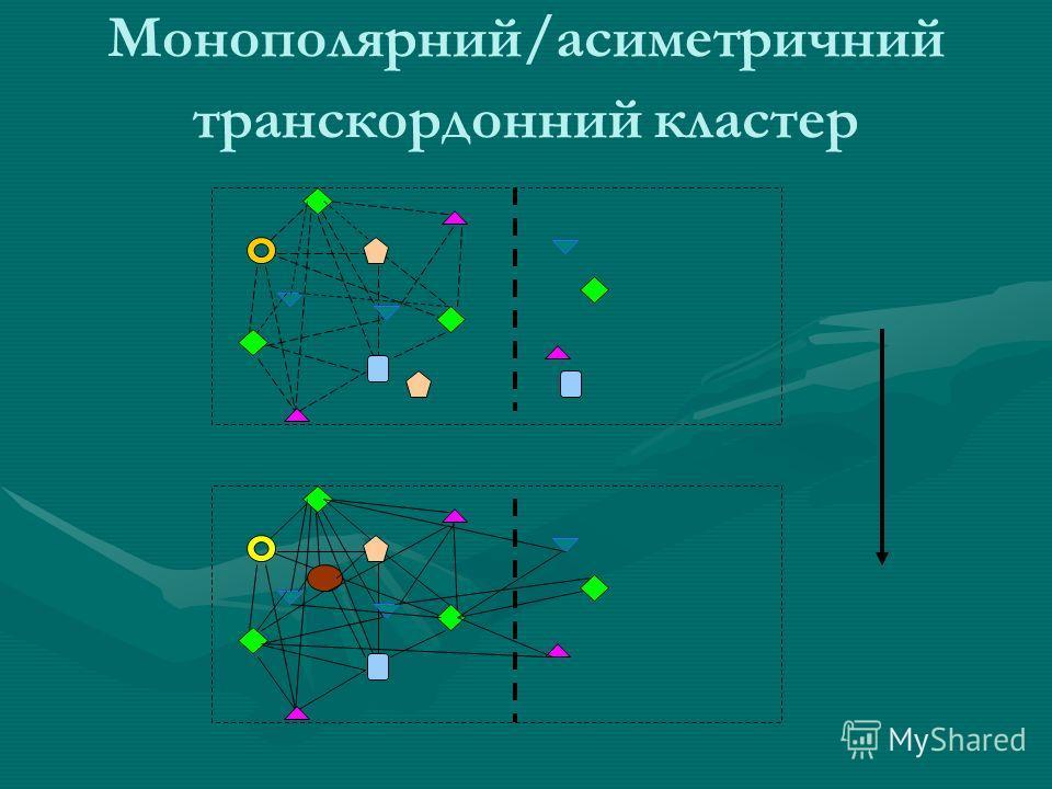 Монополярний/асиметричний транскордонний кластер