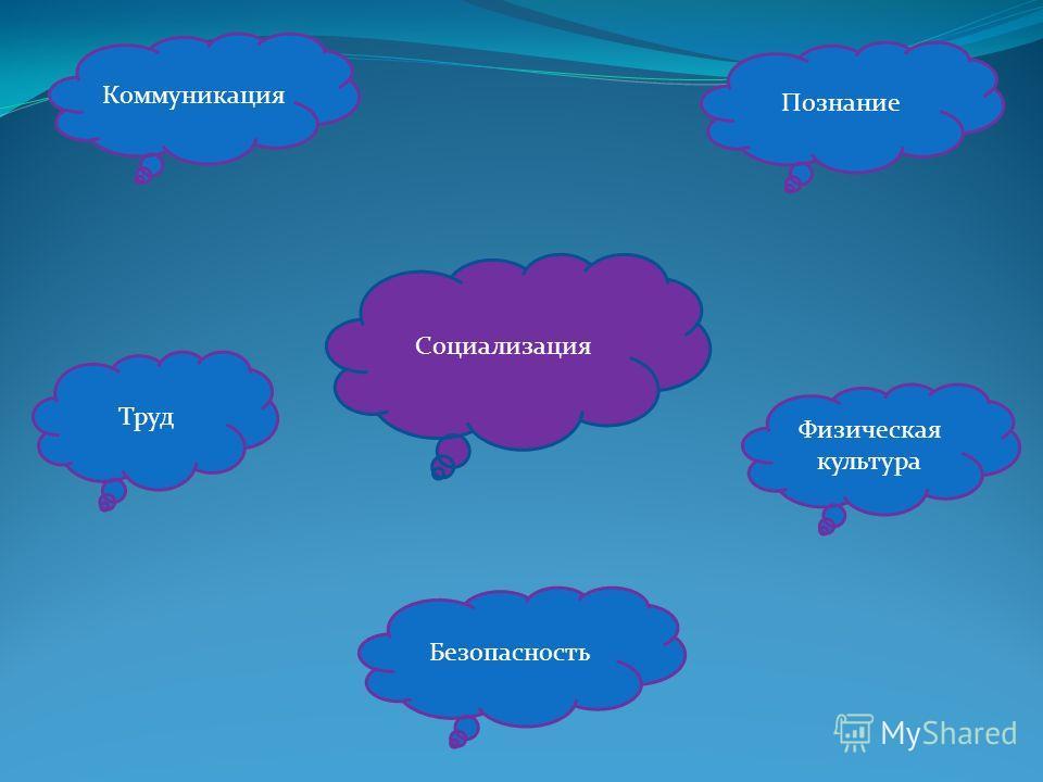 Коммуникация Познание Труд Физическая культура Безопасность