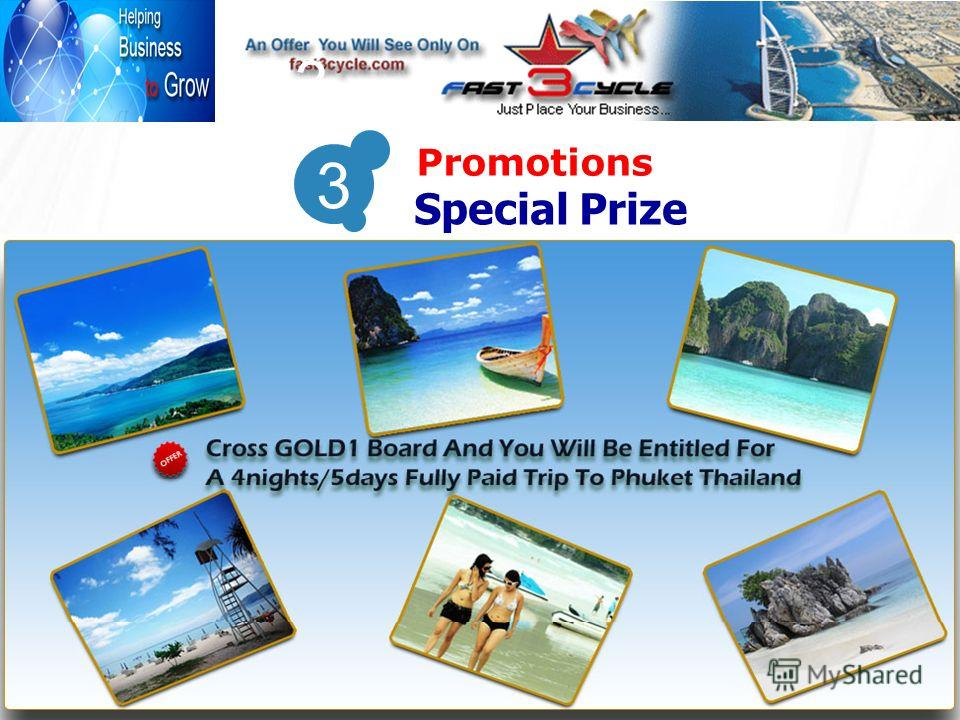 3 Promotions 3 Special Prize